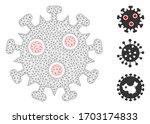 mesh sars virus polygonal 2d... | Shutterstock .eps vector #1703174833