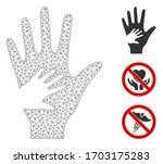 mesh help hand polygonal symbol ... | Shutterstock .eps vector #1703175283