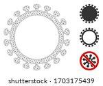 mesh virus shell polygonal icon ... | Shutterstock .eps vector #1703175439