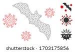 mesh bat virus polygonal icon... | Shutterstock .eps vector #1703175856