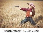 Cute child having fun outdoors  ...