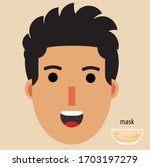a boy with messy hair icon | Shutterstock .eps vector #1703197279