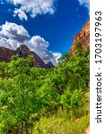 Zion Canyon Seen From The...