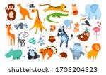 Big Set Of Cute Cartoon Animals ...