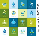 set of  water icons 1.  | Shutterstock . vector #170320988