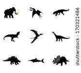 set of dinosaurus vector black... | Shutterstock .eps vector #170321486