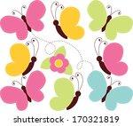 spring butterflies | Shutterstock .eps vector #170321819