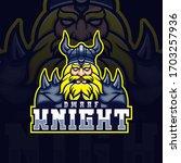 dwarf night mascot esport logo   Shutterstock .eps vector #1703257936