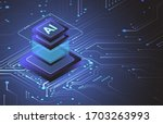 artificial intelligence... | Shutterstock .eps vector #1703263993