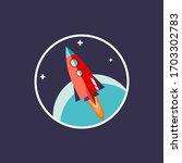space rocket vector... | Shutterstock .eps vector #1703302783
