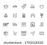 set of commerce related vector... | Shutterstock .eps vector #1703318320