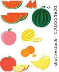 fruits   watermelon  peach ...   Shutterstock .eps vector #1703321620