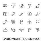 stroke line icons set of... | Shutterstock .eps vector #1703324056