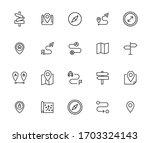 icon set of location. editable... | Shutterstock .eps vector #1703324143