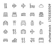 modern thin line icons set of... | Shutterstock .eps vector #1703330509