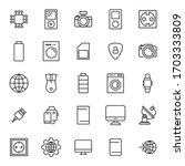 icon set of web. editable...