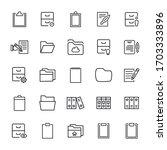 set of folder related vector... | Shutterstock .eps vector #1703333896