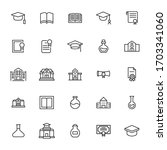 big set of academy line icons.... | Shutterstock .eps vector #1703341060