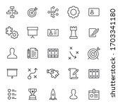 stroke line icons set of...   Shutterstock .eps vector #1703341180