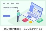 financial accounting with... | Shutterstock .eps vector #1703344483
