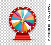 3d fortune wheel for gambling... | Shutterstock .eps vector #1703358919