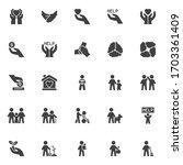 volunteering vector icons set ...   Shutterstock .eps vector #1703361409