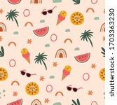 travel fun seamless pattern... | Shutterstock .eps vector #1703363230