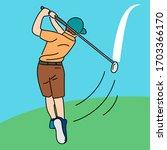 Golf Player Vector Cartoon...