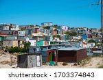 Small photo of cape town, south africa, february, 10, 2020: shacks in informal settlement in khayelitsha township