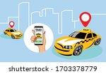 online city taxi service.... | Shutterstock .eps vector #1703378779