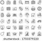 editable thin line isolated... | Shutterstock .eps vector #1703379220