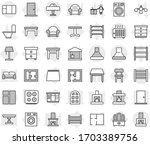 editable thin line isolated... | Shutterstock .eps vector #1703389756