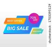 big sale or super sale banner ... | Shutterstock .eps vector #1703395129
