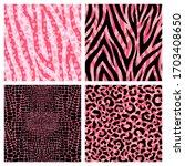 set of 4 colorful animal fur...   Shutterstock .eps vector #1703408650