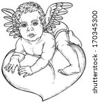 picture of a small cupid... | Shutterstock .eps vector #170345300