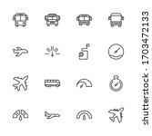public transport line icon set. ... | Shutterstock .eps vector #1703472133