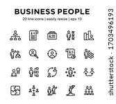 set of business people icons ... | Shutterstock .eps vector #1703496193