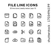 set of file icons  contains new ...   Shutterstock .eps vector #1703496199
