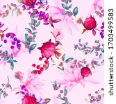 stylized seamless floral...   Shutterstock .eps vector #1703499583