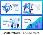 set flat 2d concepts teamwork ... | Shutterstock .eps vector #1703514076