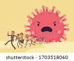 people terrorized by dangerous... | Shutterstock .eps vector #1703518060
