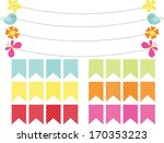 bunting banner flags for spring | Shutterstock .eps vector #170353223