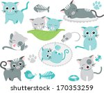 blue tom cat | Shutterstock .eps vector #170353259