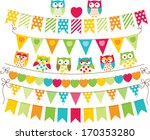 owl bunting banners | Shutterstock .eps vector #170353280