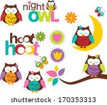 night owls | Shutterstock .eps vector #170353313