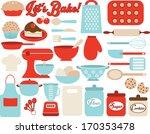 retro kitchen utensils | Shutterstock .eps vector #170353478