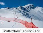 Avalanche Warning Sign And Net...