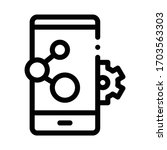 telephone settings icon vector. ... | Shutterstock .eps vector #1703563303