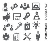 engineering icons set on white... | Shutterstock .eps vector #1703565769