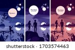 Set Of 3 Vector Illustrations...